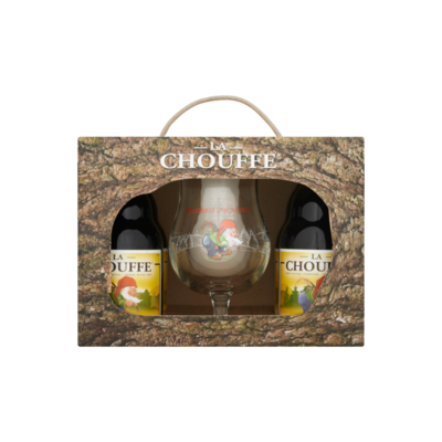 La Chouffe Geschenkverpakking 4 x 33 cl + glas