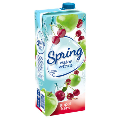 Spring Water & fruit kers-appel