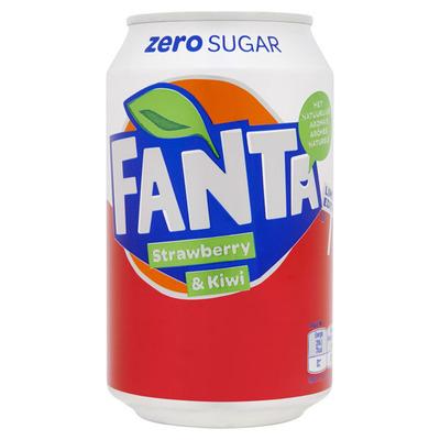 Fanta Zero aardbei kiwi