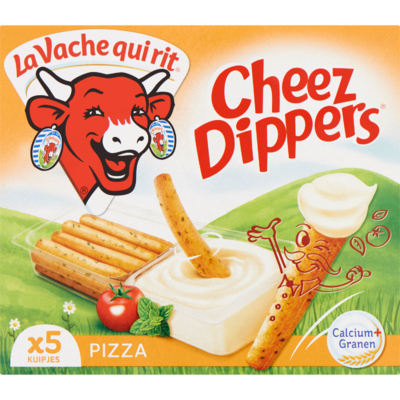 La Vache Qui Rit Cheez dippers pizza