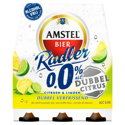 Amstel Dubbel Citrus 0.0% Flessen 6 x 30 cl