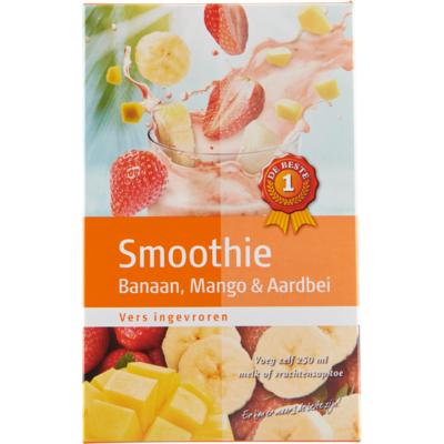 Huismerk Smoothiemix banaan-aardbei-mango