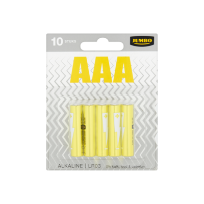 Huismerk AAA Alkaline LR03 Batterijen