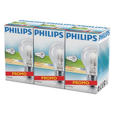 Philips Eco classic dim warmwit 630 lumen 55W E2