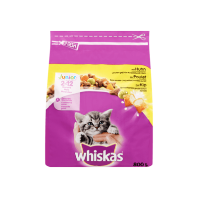 Whiskas Junior Onweerstaanbare Gevulde Brokjes met Melk met Kip 2-12 Maanden