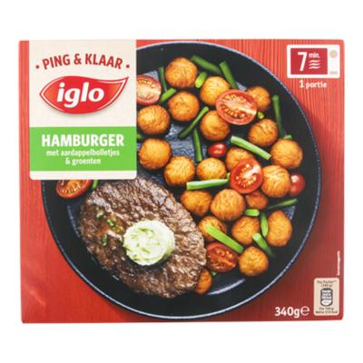 Iglo Ping&Klaar Hamb. Aardap.boll.& Groente