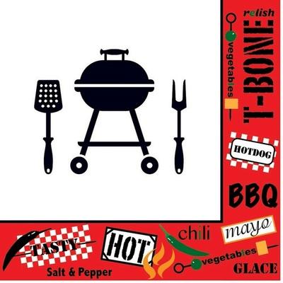Duni Servet Tafelen BBQ grill