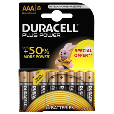 Duracell Plus power 8 Pack AAA