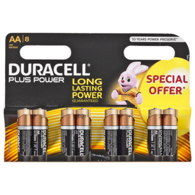 Duracell Plus power 8 Pack AA