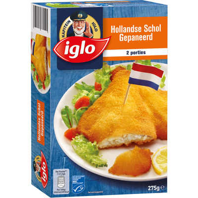 Iglo Hollandse schol gepaneerd
