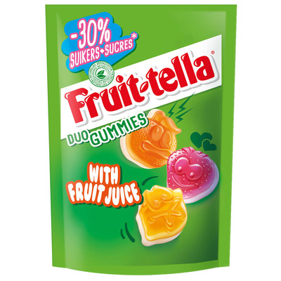 Fruittella Duo gummies -30% suiker