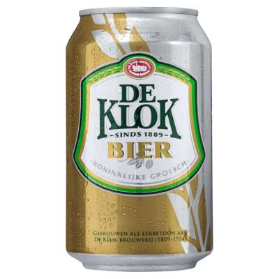 De Klok Bier Blik 33 cl