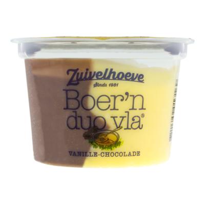 Zuivelhoeve Boer'n duo vla vanille-chocolade