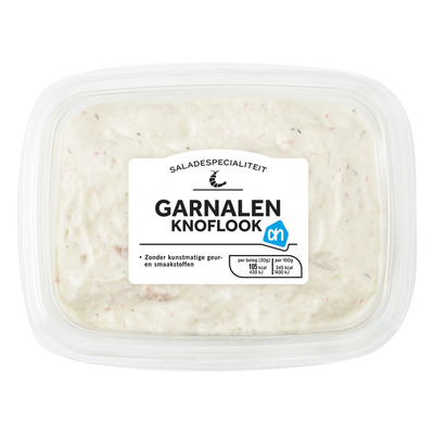 Huismerk Saladespecialiteit garnalen-knoflook