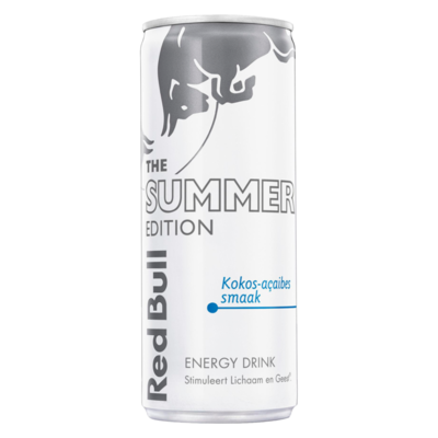 Red Bull The Summer Edition Kokos-Açaibes Smaak Energy Drink