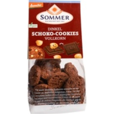 Spelt chocolade-hazelnoot koekjes
