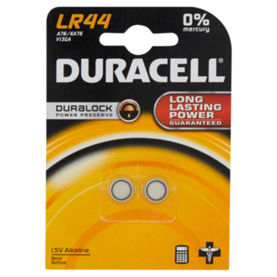 Duracell Knoopcel batterij Lr44