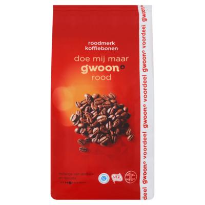 Huismerk Koffiebonen aroma rood