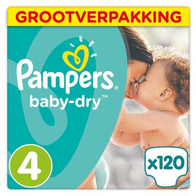 Pampers baby-dry grootverpakking maat 4 120 stuks