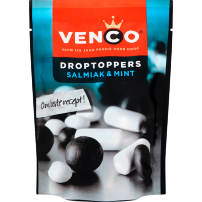 Venco Droptoppers salmiak & mint