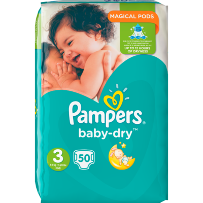 Pampers Baby dry valuepack midi