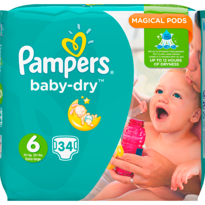 Pampers Baby dry valuepack extra large