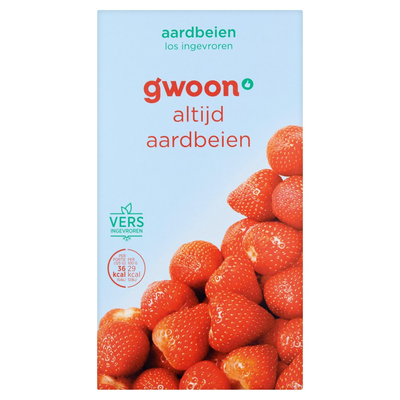 g'woon Aardbeien Diepvriesfruit 225 g