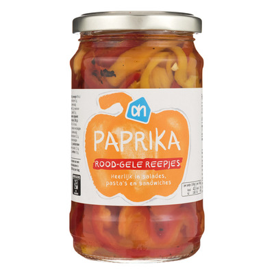 Huismerk Paprika rood-gele reepjes