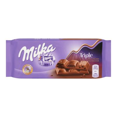 Milka Triple Melk Chocolade Reep