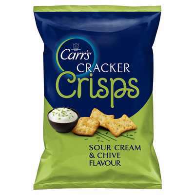 Carr's Crackers crisps sour cream chive