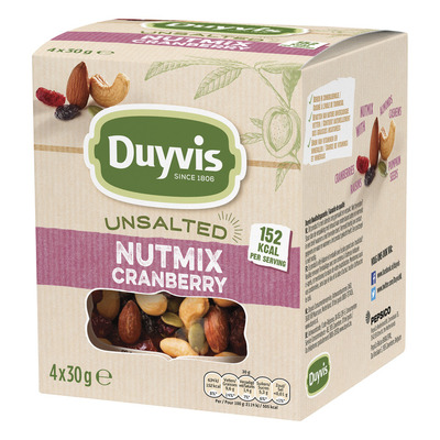 Duyvis Unsalted nutmix cranberry multipack