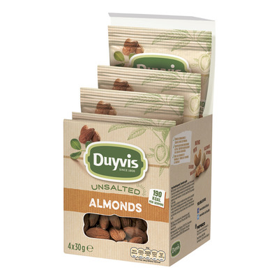 Duyvis Unsalted almonds multipack