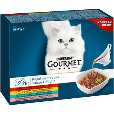 Gourmet Perle sauce delight 8-pack o.a. met rund