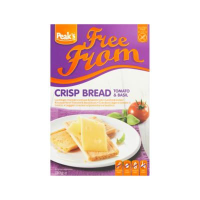 Peak's Free From Luchtige Crackers Tomaat & Basilicum