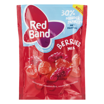 Red Band Berries winegummix 30% minder suiker