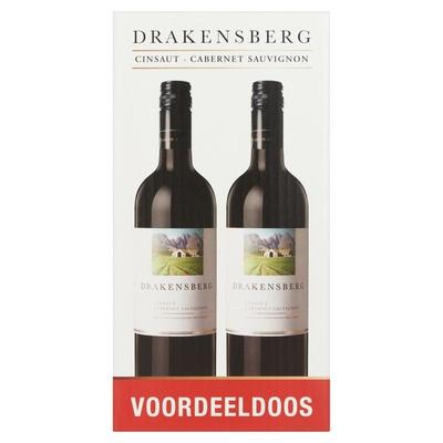 Drakensberg Cinsaut Cabernet Sauvignon Voordeeldoos 4 x 750 ml