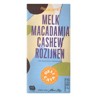 Huismerk Reep melk macadamia cashew rozijnen