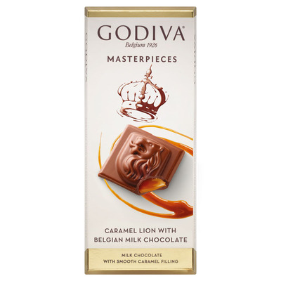 Godiva Masterpieces tablet caramel lion
