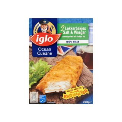 Iglo Ocean Cuisine Lekkerbekjes Salt & Vinegar 2 Stuks