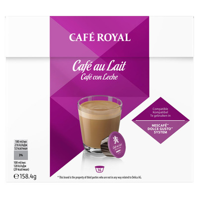 Café Royal Cafe au lait dolce gusto compatible