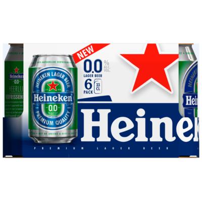 Heineken Pilsener 0.0% - max. acht 6-packs per klant Max. geldt ook in combinatie met overige varianten