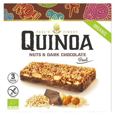 Paul's Quinoa Bars nuts & dark chocolate