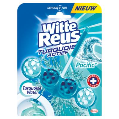 Witte Reus Toiletblok turquoise actief
