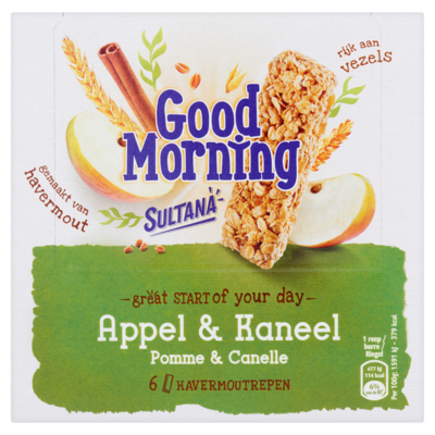 Sultana Good Morning Appel & Kaneel 6 Stuks 180 g