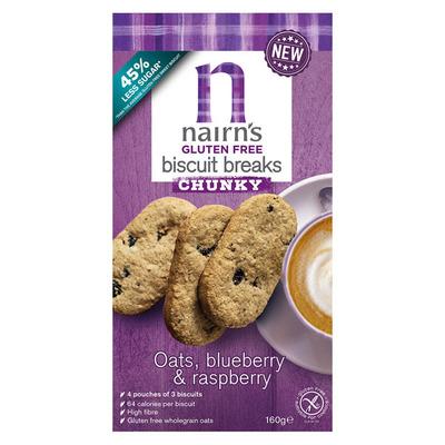 Nairn's Gluten free chunky oats blueber & raspbe