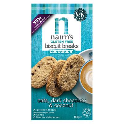 Nairn's Gluten free chunky oats, coconut &choc