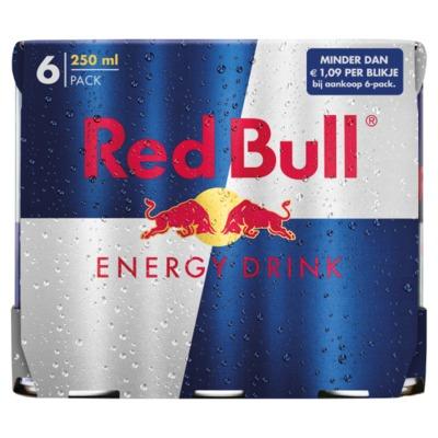 Red Bull blik 250 ml. 6-pack