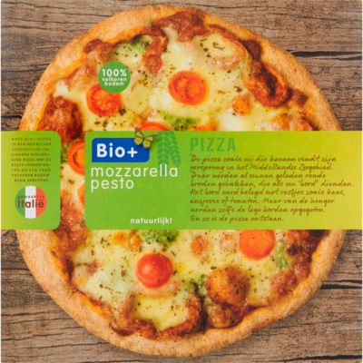 Bio+ Pizza mozzarella pesto