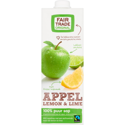 Fair Trade Original Appelsap lemon en lime