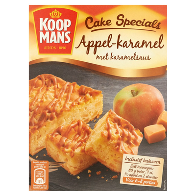 Koopmans Cake Specials Appel-Karamel met Karamelsaus 210 g